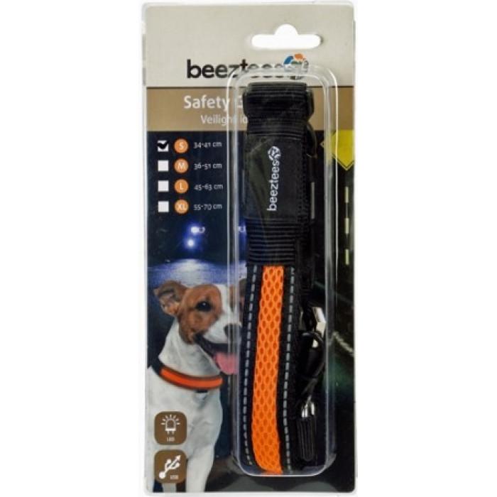 """Ошейник для собак """"Beeztees"""", светящийся, с USB, 34-41 см х 25 мм"""