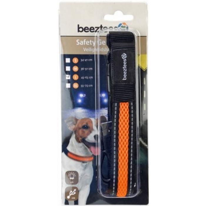"""Ошейник для собак """"Beeztees"""", светящийся, с USB, 45-63 см х 25 мм"""