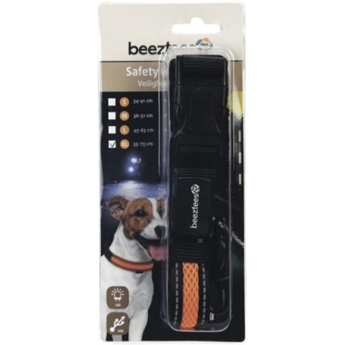 """Ошейник для собак """"Beeztees"""", светящийся, с USB, 55-70 см х 25 мм"""