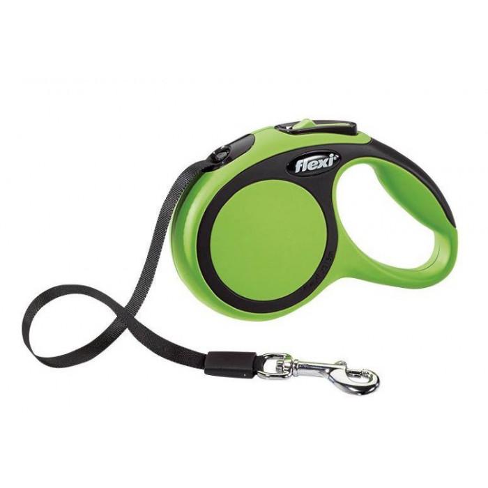 Поводок-рулетка Flexi New Comfort XS для собак лента до 12 кг, 3 м зеленый