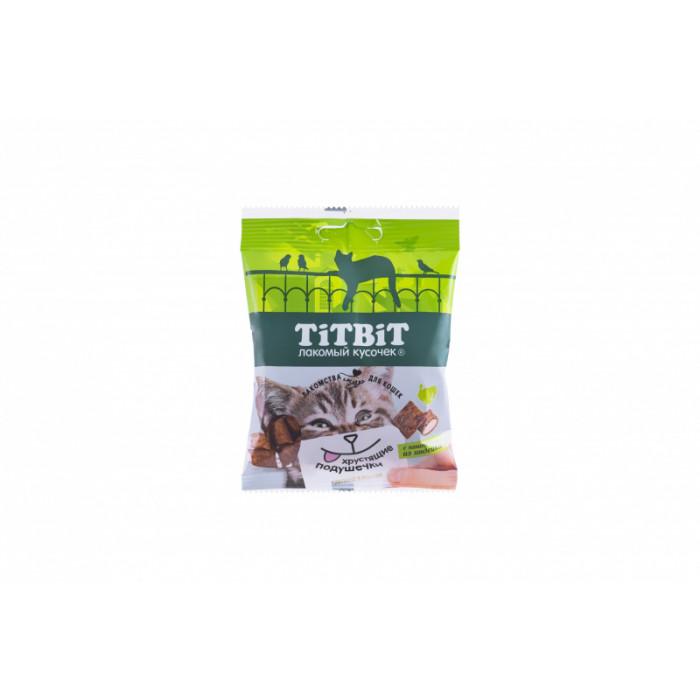Titbit Хрустящие подушечки для кошек с паштетом из индейки 30 г
