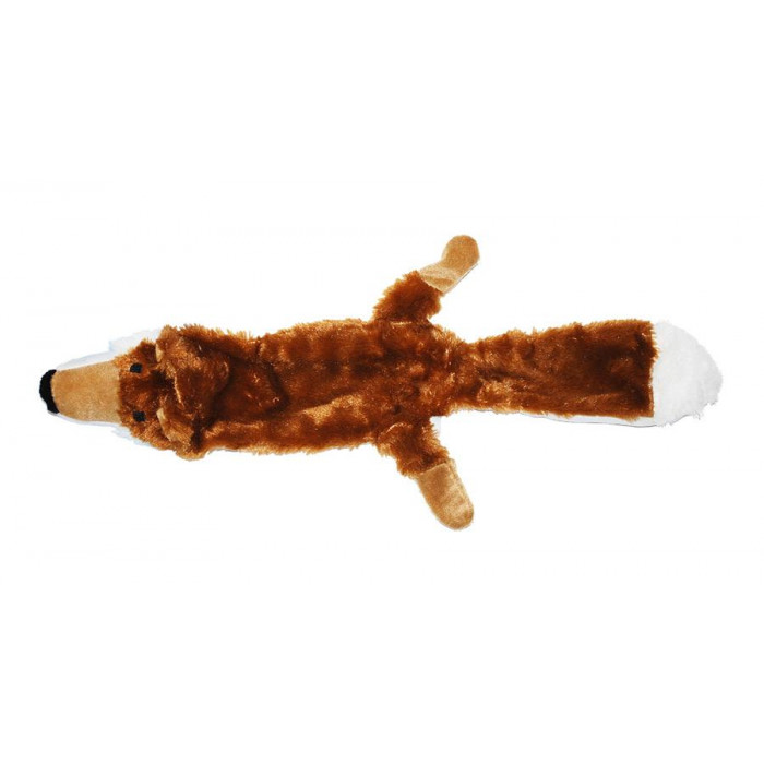 Игрушка для собак лиса с пищалкой, 33 см