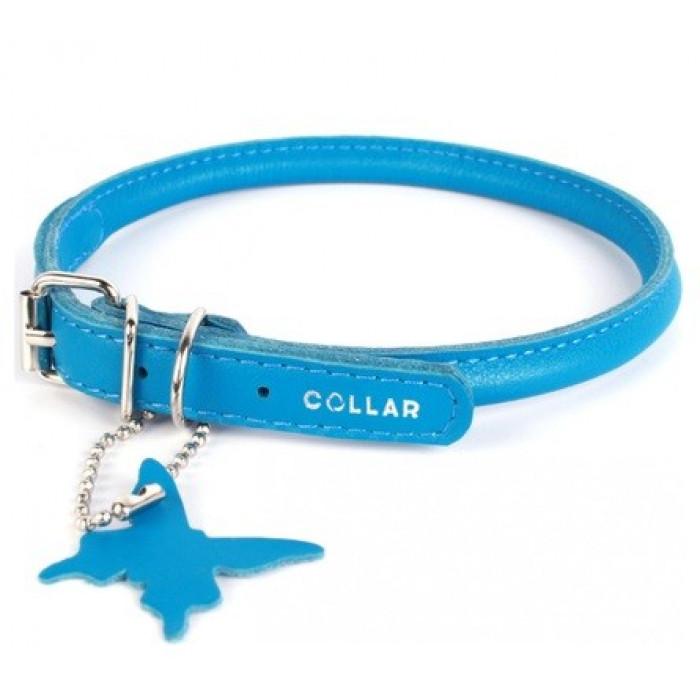 """Ошейник для собак Collar """"Glamour"""", круглый (цвет: синий), 8 мм х 25-33 см"""