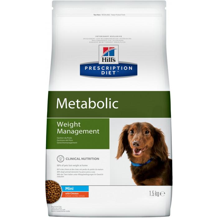 Корм Hill's Prescription Diet Metabolic Weight Management для собак мелких пород для поддержания оптимального веса с курицей, 1.5 кг