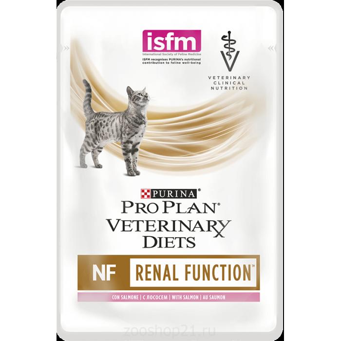 Корм Pro Plan Veterinary diets NF для кошек при патологии почек с лососем, 85 г