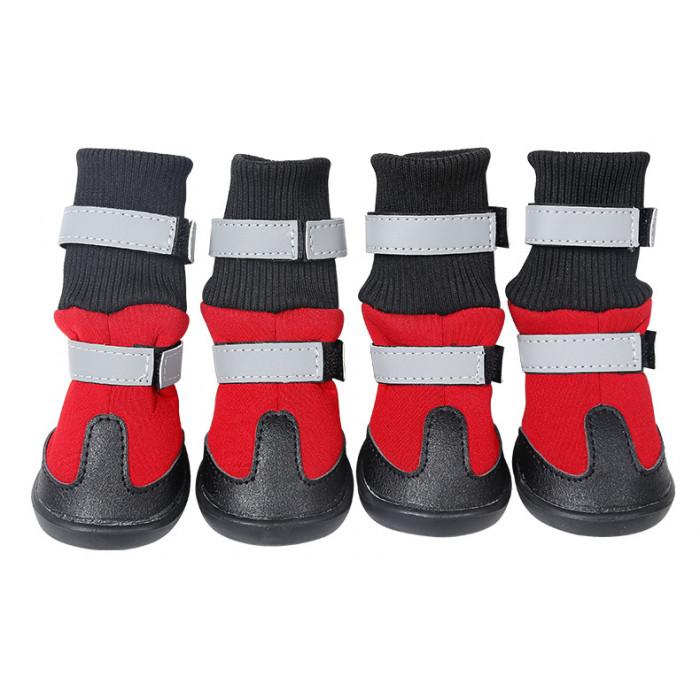 Обувь для собак с двумя застежками, размер S (5,1х4,8 см), цвет в ассортименте