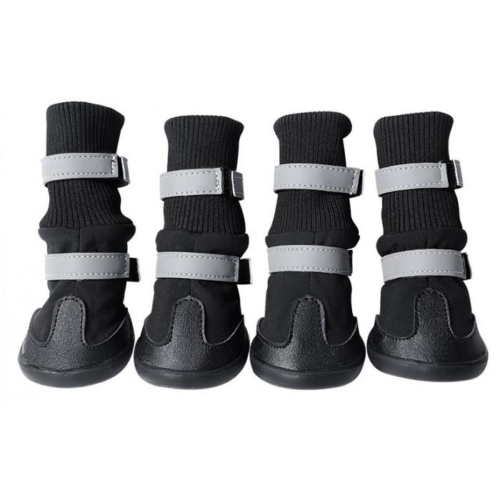 Обувь для собак с двумя застежками, размер М (6,4х6 см), цвет в ассортименте
