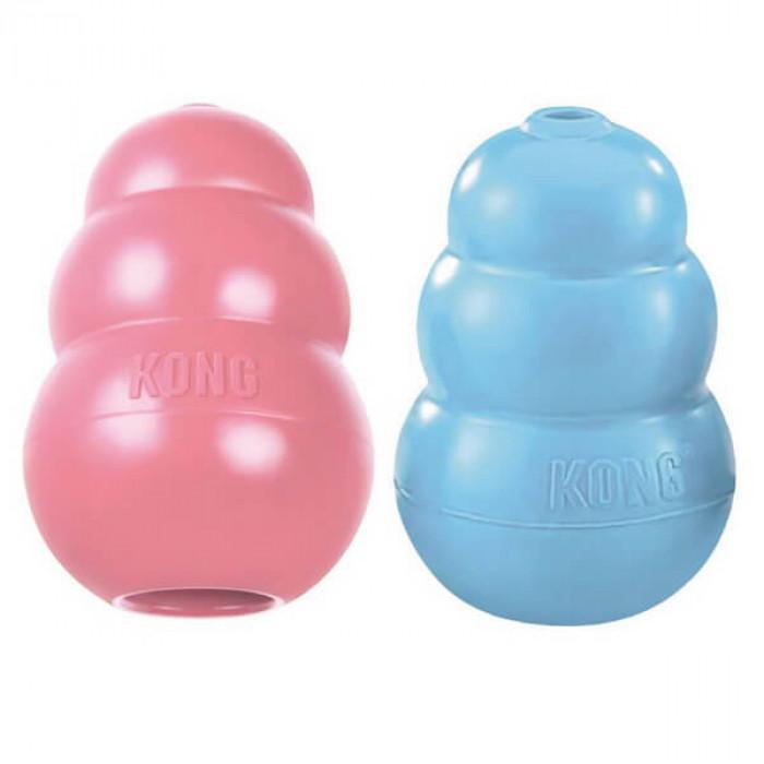 KONG Puppy игрушка для щенков классик S 7x4 см маленькая цвета в ассортименте: розовый, голубой