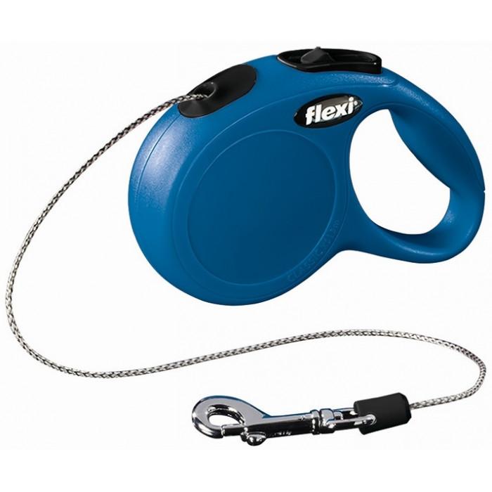 Поводок-рулетка Флекси New Classic синий, для собак до 12 кг, S, 5 м