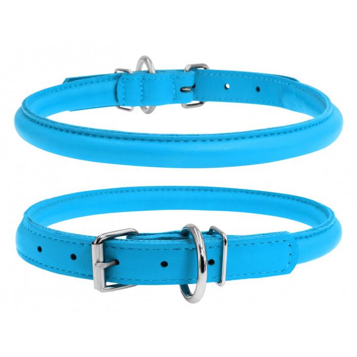 """Ошейник для собак Collar """"Glamour"""", круглый (цвет: голубой), 10 мм х 33-41 см"""