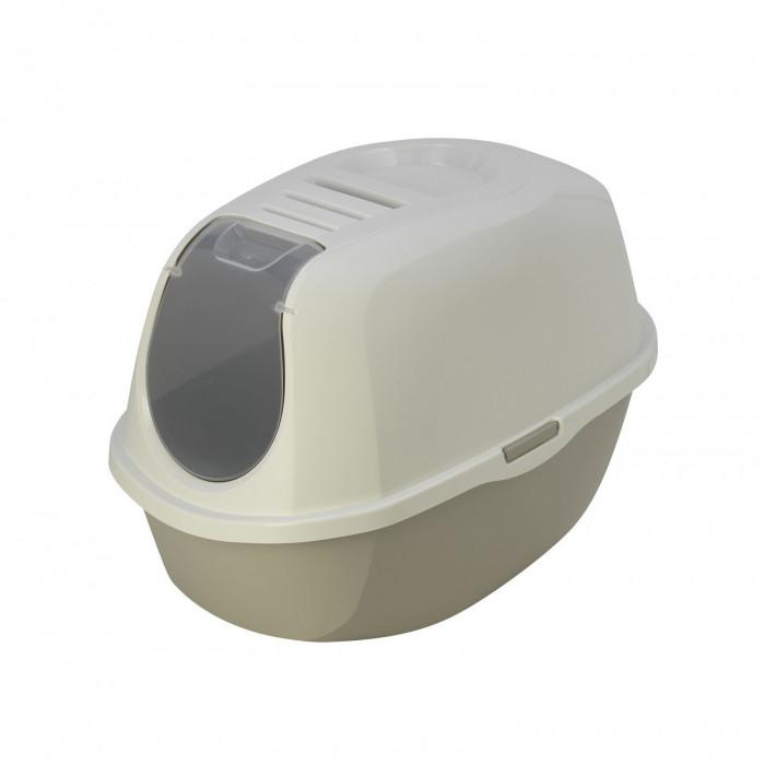 Туалет-домик SmartCat с угольным фильтром, 54х40х41см, теплый серый, 1,2 кг