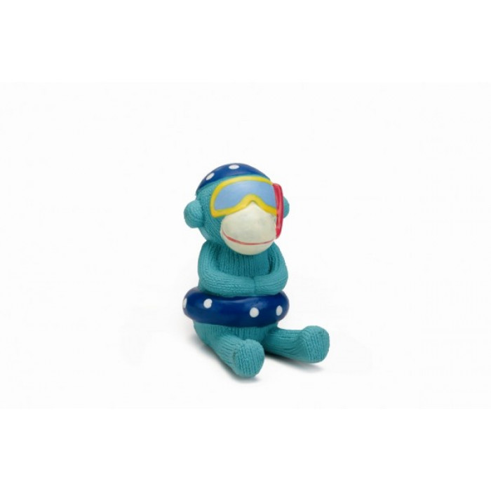 """Игрушка для собак """"обезьянка голубая"""", 13 см"""