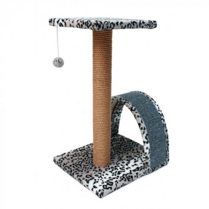 Когтеточка столбик + дуга + площадка, 35х30х54 см