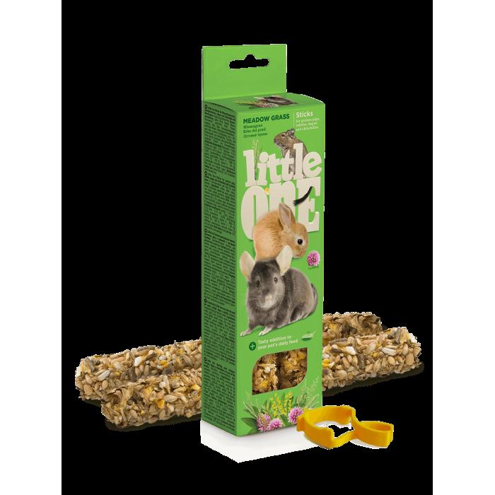 Little One Палочки для морских свинок, кроликов и шиншилл, с луговыми травами (2 шт. по 55 г), 110 г