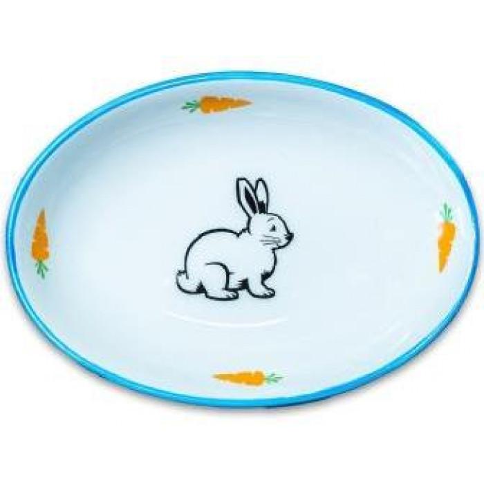 КерамикАрт миска для грызунов Зайчик 90мл, голубая