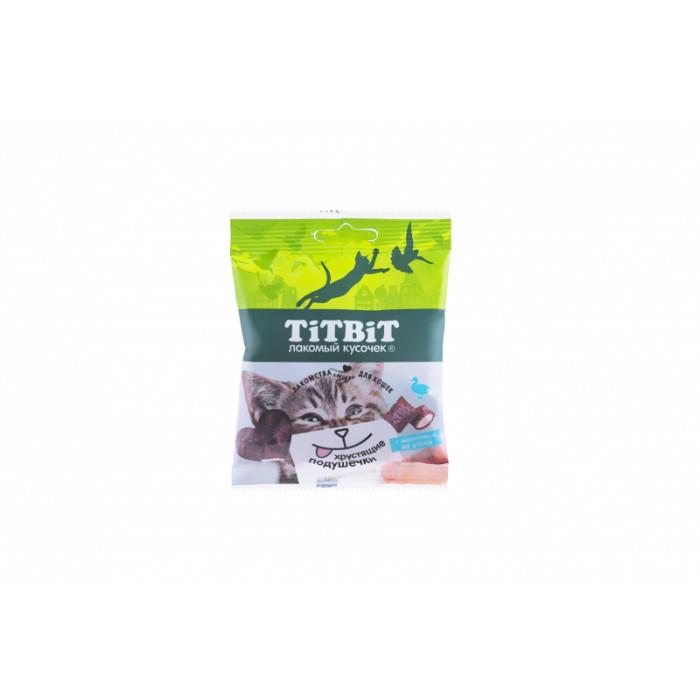 Titbit Хрустящие подушечки для кошек с паштетом из утки 30 г