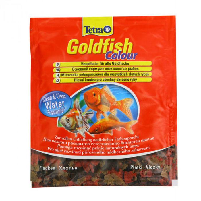 Tetra Goldfish Colour корм в хлопьях для улучшения окраса золотых рыб, 12 г