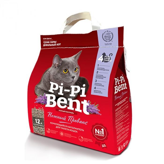 """Pi-Pi-Bent Комкующийся наполнитель """"Нежный Прованс"""" (пакет), 5 кг"""