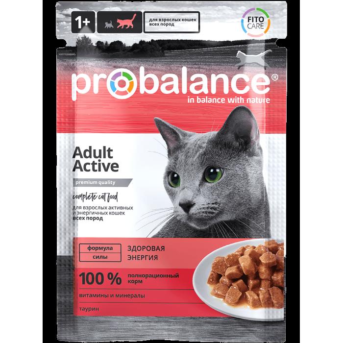 Корм ProBalance для активных кошек, 85 г