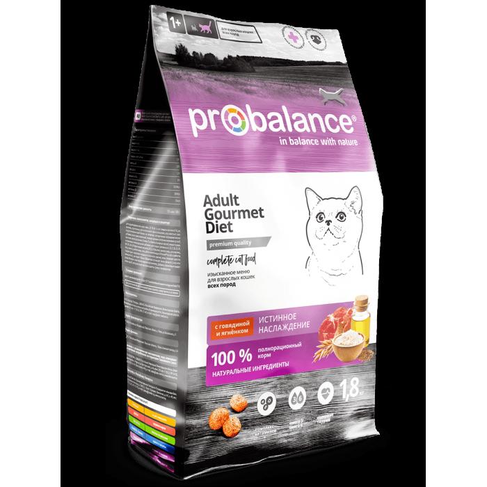 Корм ProBalance для кошек с говядиной и ягненком, 1.8 кг