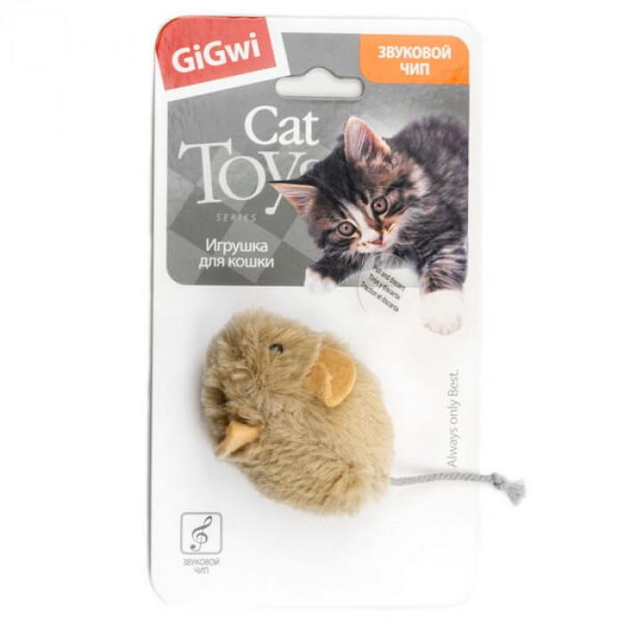 Игрушка для кошек Мышка со звуковым чипом 13см