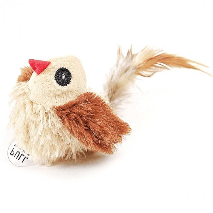 Игрушка для кошек Птичка со звуковым чипом 15х5 см