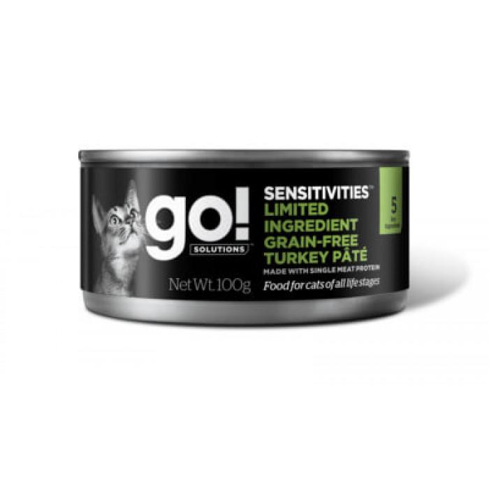 Корм Go! Limited Ingredient Grain Free Turkey Pate (консерв.) для кошек с чувствительным пищеварением с индейкой, 100 г