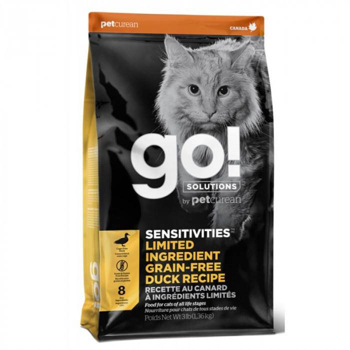 Корм Go! SENSITIVITIES Limited Ingredient Grain-Free Duck Recipe (беззерновой) для кошек с чувствительным пищеварением с уткой, 3.63 кг