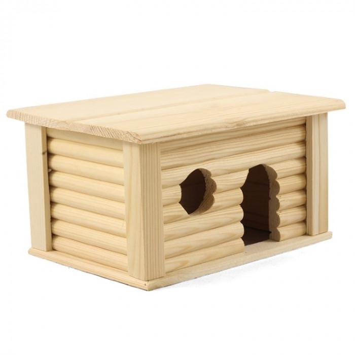 Домик с плоской крышой для грызунов, 210*160*100мм