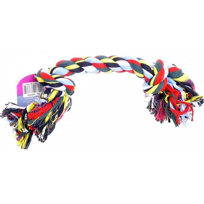 """Papillon Игрушка для собак """"Веревка с 2 узлами"""", хлопок, 25см"""