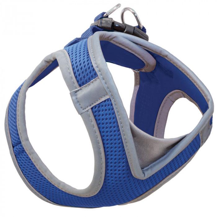 Мягкая шлейка-жилетка нейлоновая синяя M, обхват груди 410-460мм