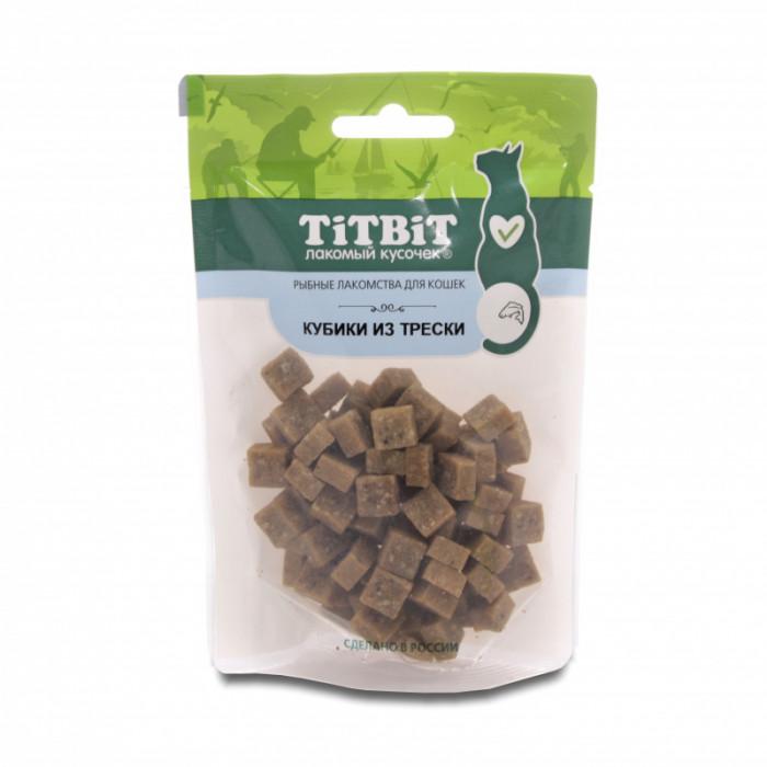 Titbit Кубики из трески для кошек (Рыбные лакомства) 60 г