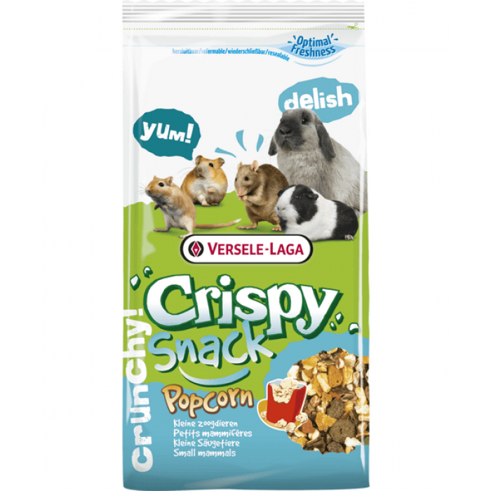 Versele Laga Корм дополнительный для грызунов с попкорном Crispy Snack Popcorn, 650 г