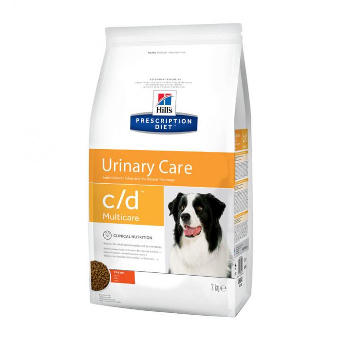 Корм Hill's Prescription Diet c/d Urinary Care для собак диета для поддержания здоровья мочевыводящих путей курица, 2 кг
