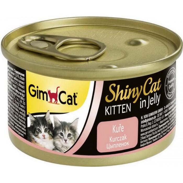 Консервы GimCat ShinyCat для котят из цыпленка 70 г