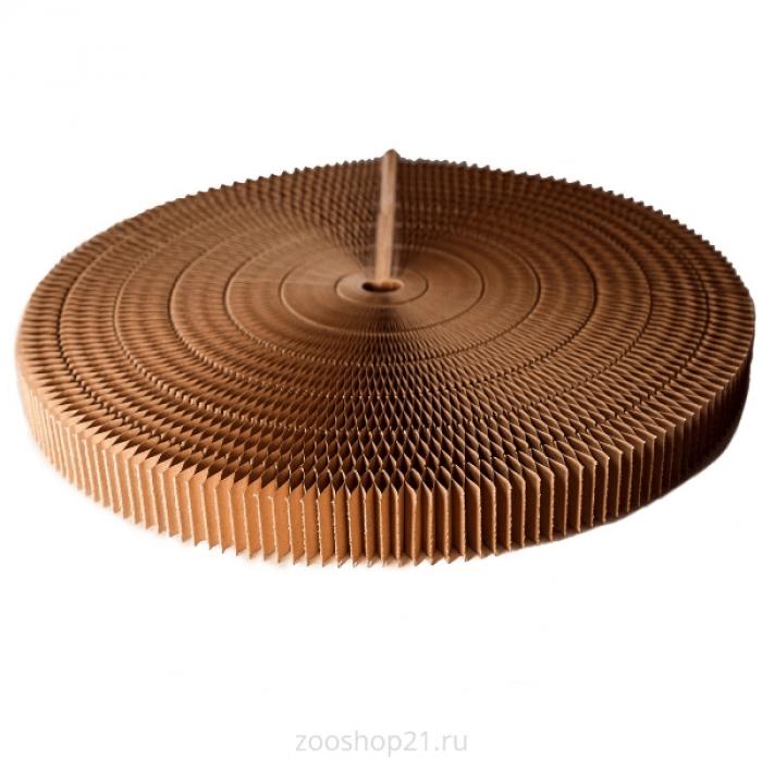 Двухсторонняя раздвижная лежанка - когтеточка d 52 см