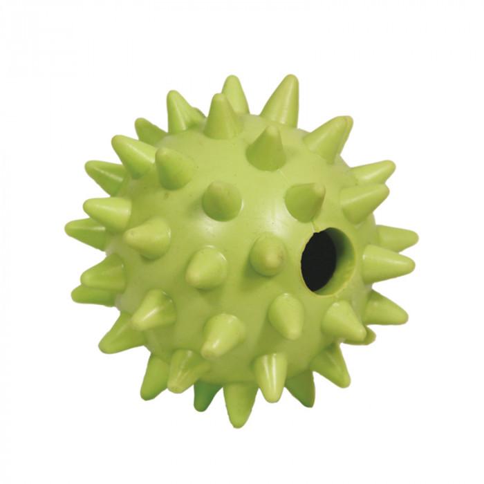 """Игрушка для собак из ц/литой резины """"Мяч игольчатый"""", d65мм"""