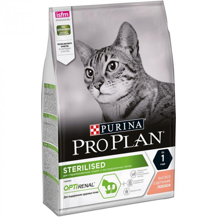 Корм PRO PLAN Sterilised OPTI RENAL (комплекс для поддержания здоровья почек) для стерилизованных кошек, с лососем, 3 кг