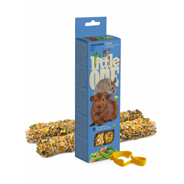 Little One Палочки для морских свинок, кроликов и шиншилл, с овощами (2 шт. по 60 г), 120 г