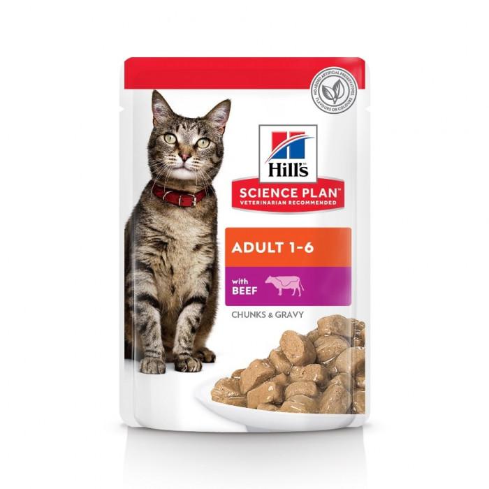 Корм Hill's Science Plan Optimal Care для кошек от 1 до 6 лет с говядиной, 85 г