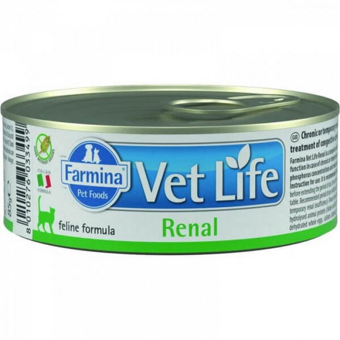 Корм Farmina Vet Life Renal (паштет) для кошек при заболеваниях почек, 85 г