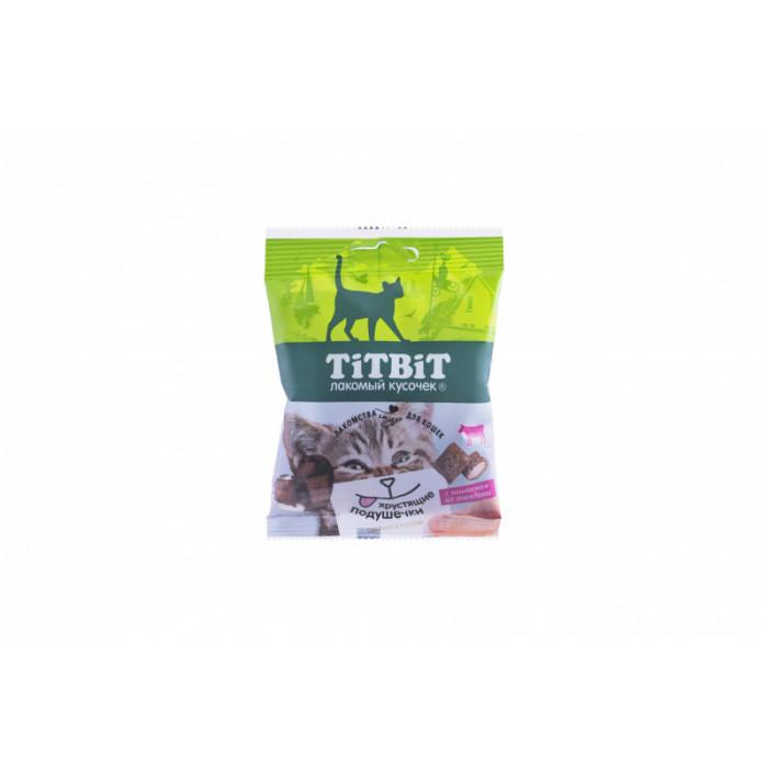 Titbit Хрустящие подушечки для кошек с паштетом из говядины 30 г