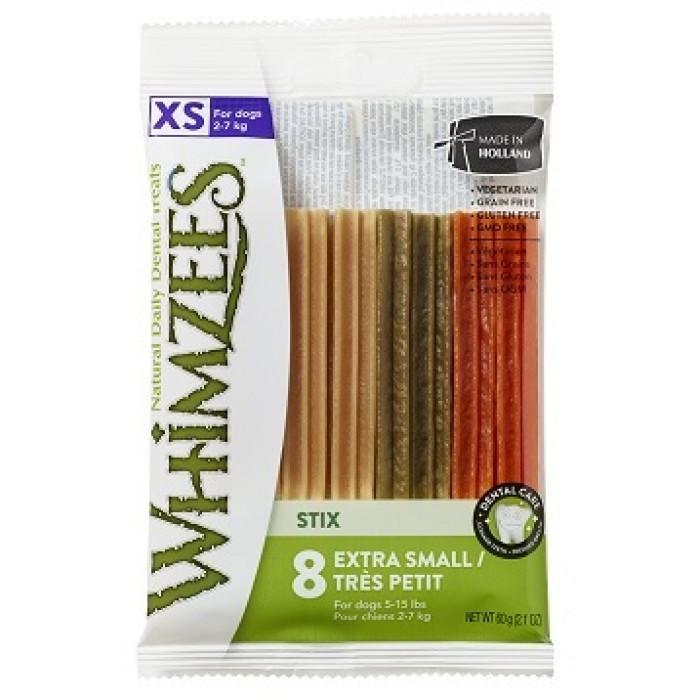 Whimzees лакомство для чистки зубов Зубная палочка для собак XS 8 см 8 шт в блистере