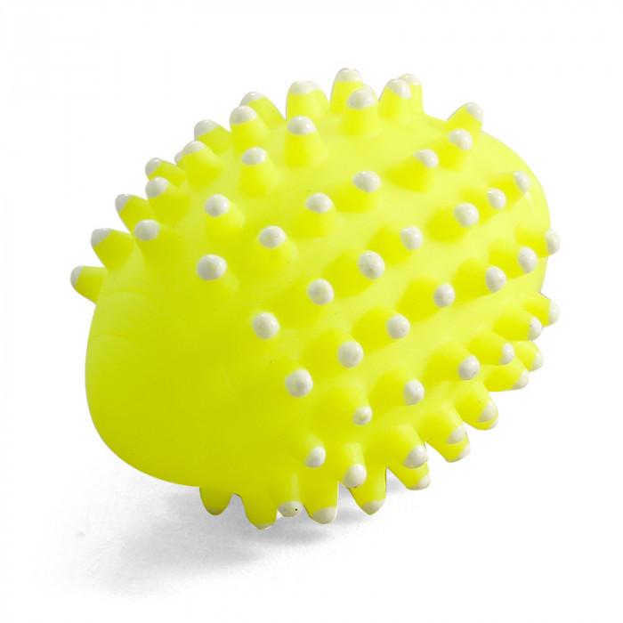 """Игрушка для собак из винила """"Мяч для регби с шипами"""", 85мм"""