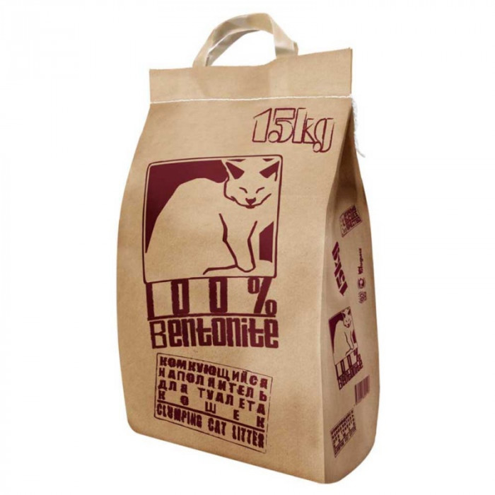 Pi-Pi-Bent Комкующийся наполнитель, 100% натуральный (бумажный пакет), 15 кг