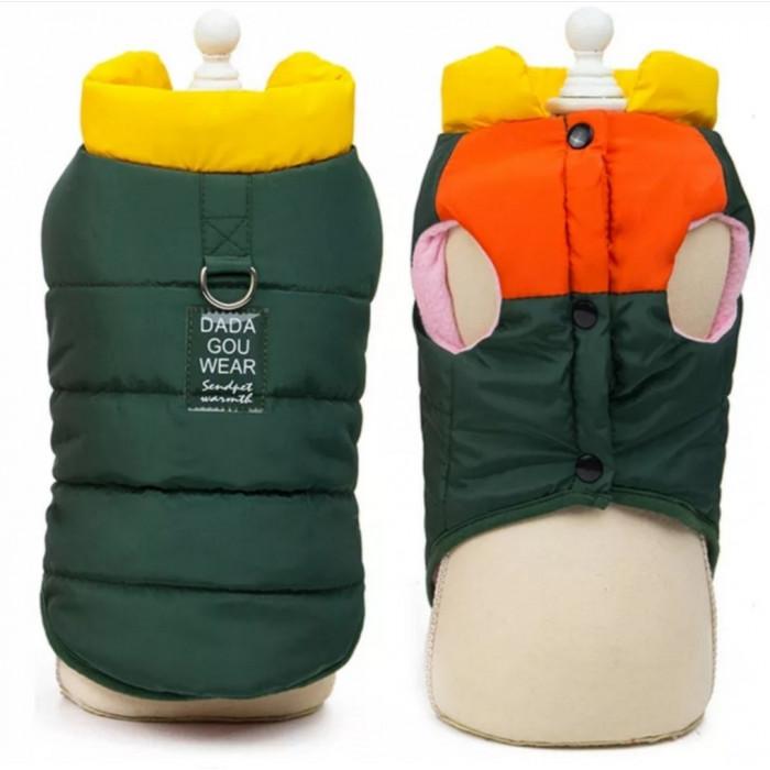 """Жилет для собак """"DaDaGou"""", цвет зеленый, размер 6ХL (длина спины 60 см)"""
