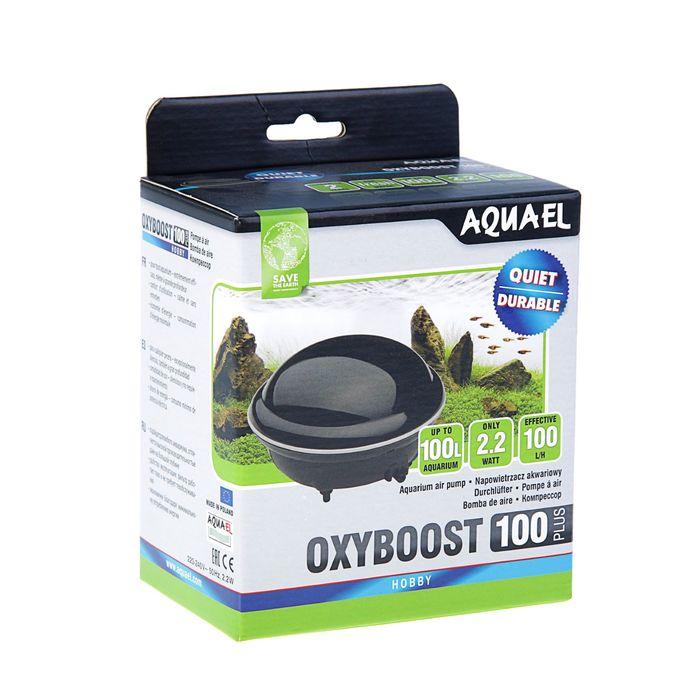 Компрессор AQUAEL OXYBOOST 100 plus для аквариума до 100 л (100 л/ч, 2.2 Вт, 1 канал, нерегулируемый)