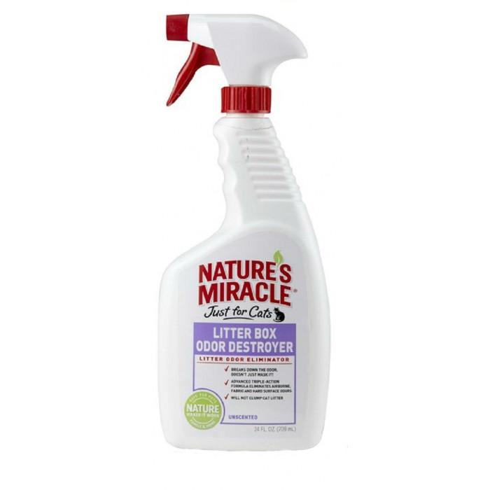 8in1 средство для устранения запаха в кошачьем туалете NM Litter Box Odor Destroyer спрей 710 мл