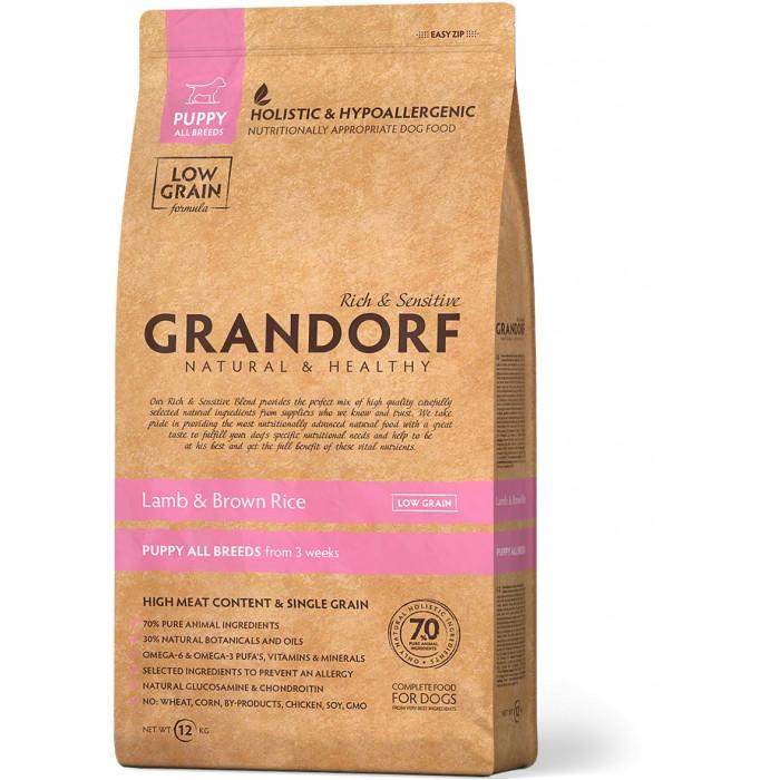 Корм Grandorf Ягненок с рисом для щенков, 1 кг