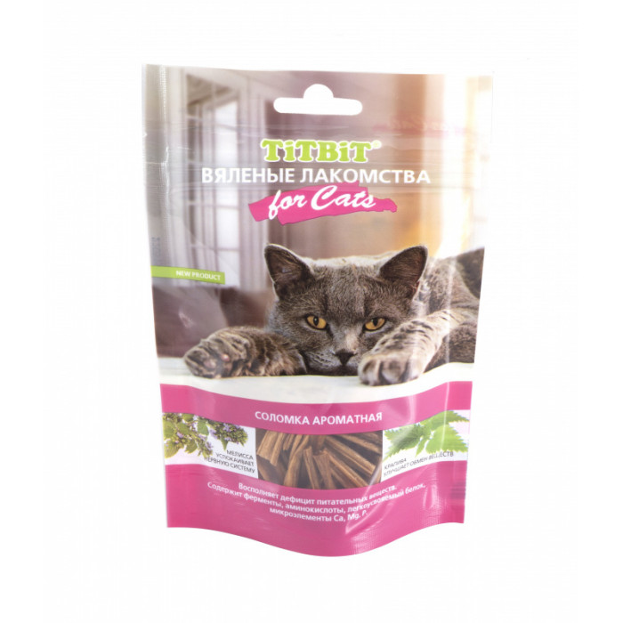 Titbit Вяленые лакомства Соломка ароматная для кошек 40 г